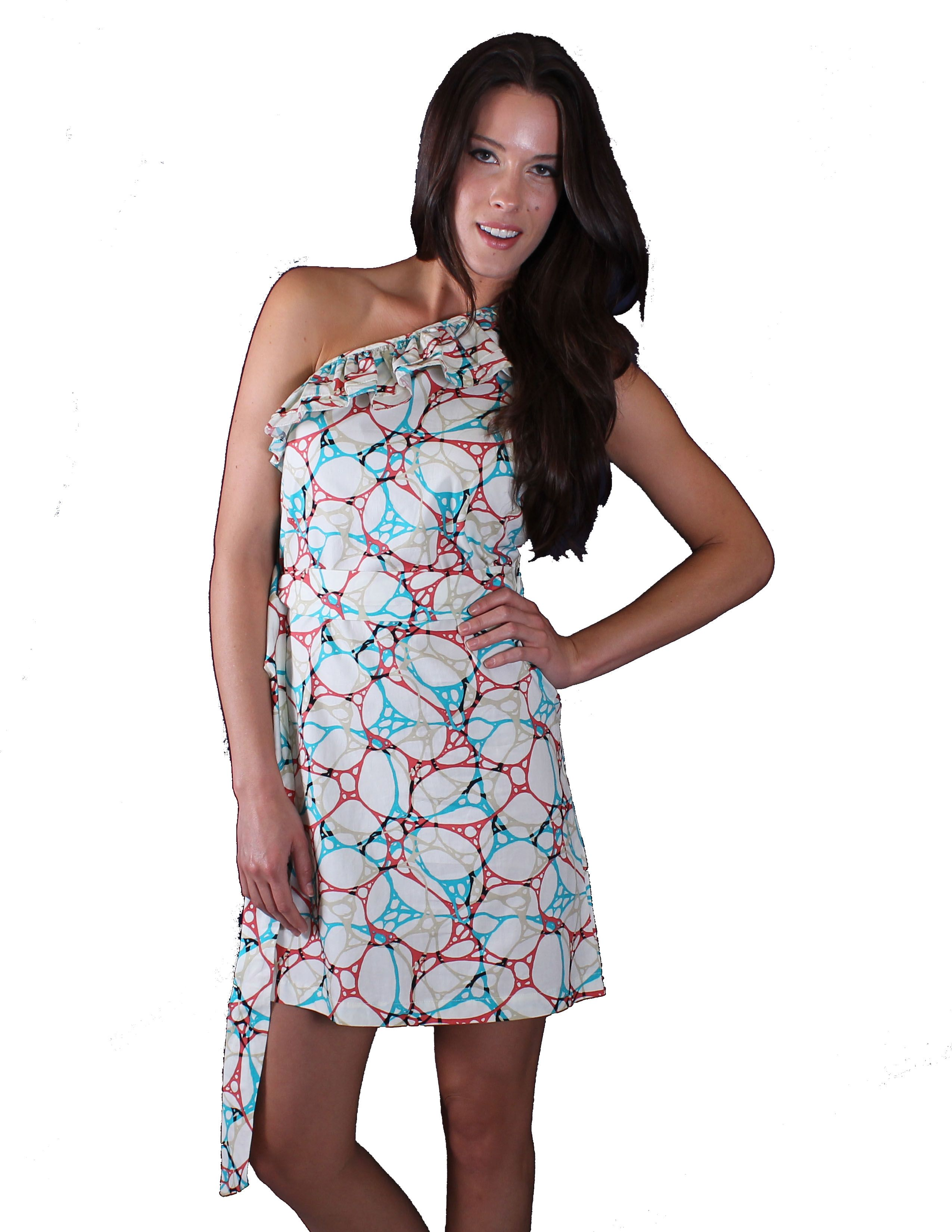 Right on trend, BAP Fashions adorns this dress with dynamic print. A removable belt lends just the right amount of definition to the silhouette.  $24 and free shipping.