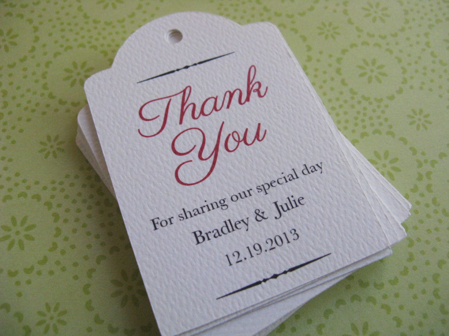 Special Listing For Personalized Tags Wedding Favor