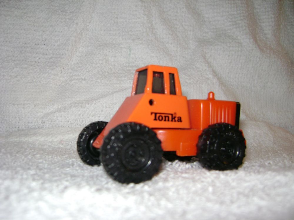 Tonka Mini Truck Construction 1992 Plastic Die Cast Orange Red 3