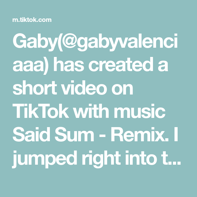 Gaby Gabyvalenciaaa Has Created A Short Video On Tiktok With Music Said Sum Remix I Jumped Right Into The Second Exerc In 2021 Rap Lines The Originals Greenscreen