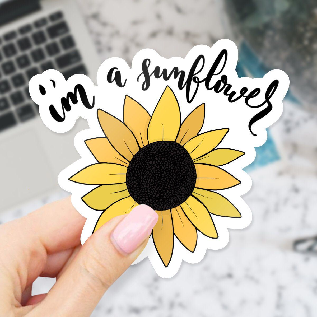 I'm a Sunflower Sticker | Etsy