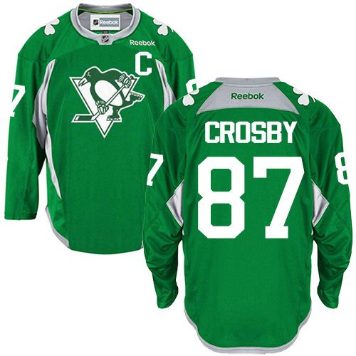 5c014aa66 ... new arrivals reebok pittsburgh penguins 87 mens sidney crosby authentic  green practice nhl jersey 3a870 682a7