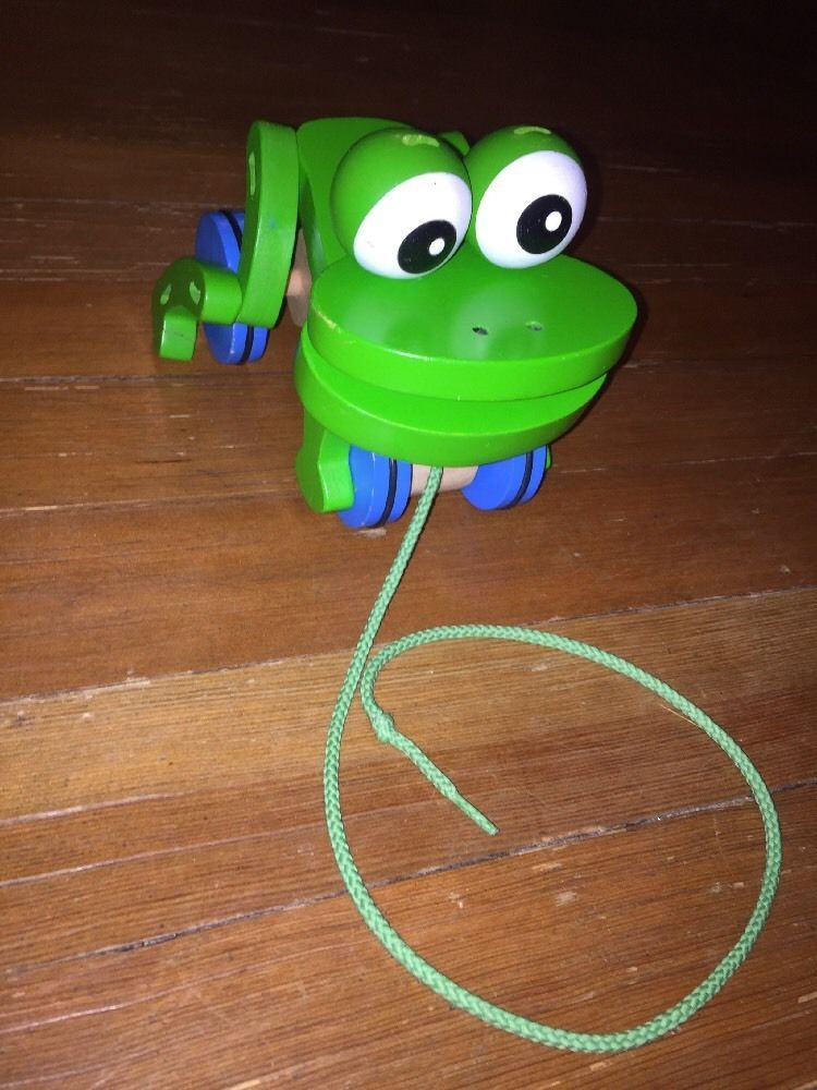 Melissa & Doug - Frolicking Frog - Pull Toy - Wooden Toy - First ...