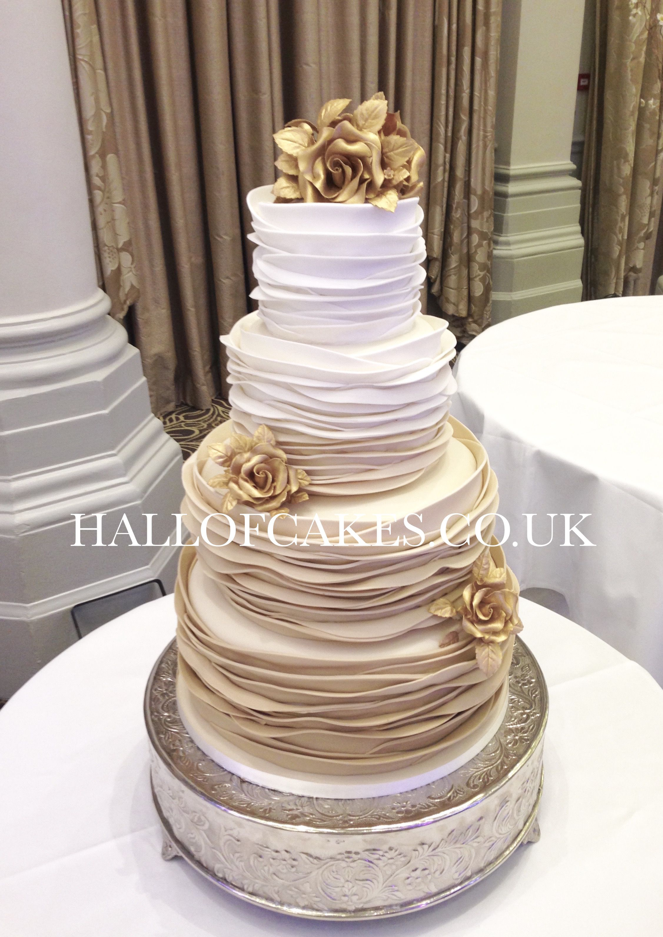 Cake Designs For Golden Wedding : Beautiful Gold Ombre Wedding Cakes by Hall of Cakes cake ...