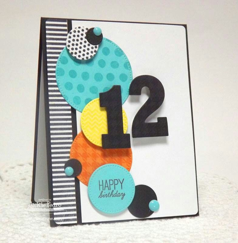 Pin by fleur portellas on cards children pinterest cards card age card using paper border and circle punches bookmarktalkfo Images