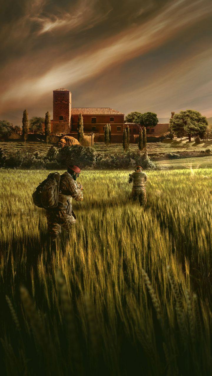2018, wheat farm, Tom Clancy's Rainbow Six Siege, 720x1280 wallpaper