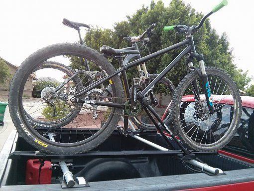 above truck bed bike rack
