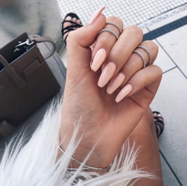 Nail Polish Pink Nails Knuckle Ring Bracelets Jewels Jewelry Tumblr