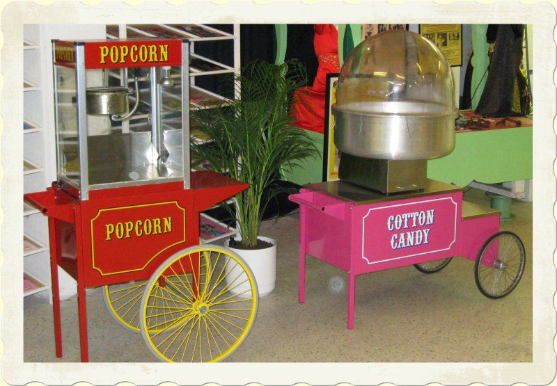 Vuokraa hattarakone tai popcorn-kone Nokkakiven huvipuistosta