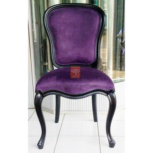 Purple Leather Dining Chairs: French Provincial Furniture Georgian