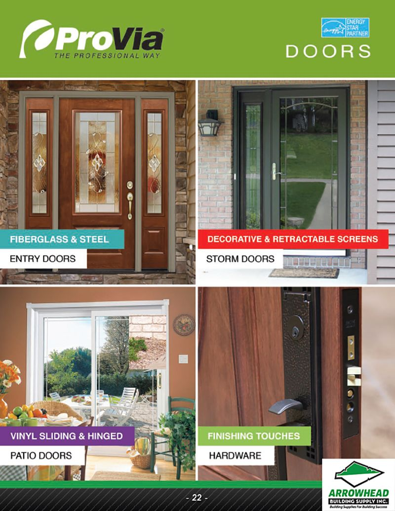 Entry Doors Storm Doors Patio Doors More Our 2018 Product