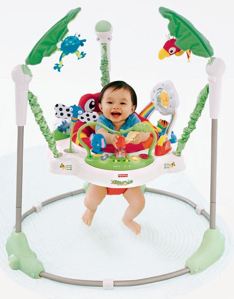 212b87984bf0 Jumper Bouncer Chair Activity Seat Walker Baby Toddler Fisher Price ...