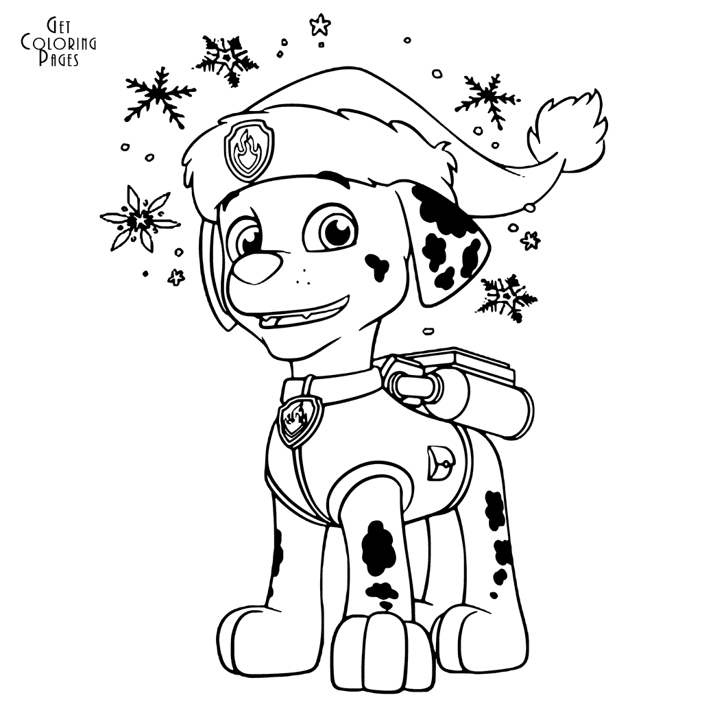 Christmas Paw Patrol Coloring Pages Marshall Christmas Paw Patrol Coloring Pages Marshall Get With Paw Patrol Logo Printabl Paw Patrol Coloring Pages Paw Patrol Coloring Paw Patrol Christmas