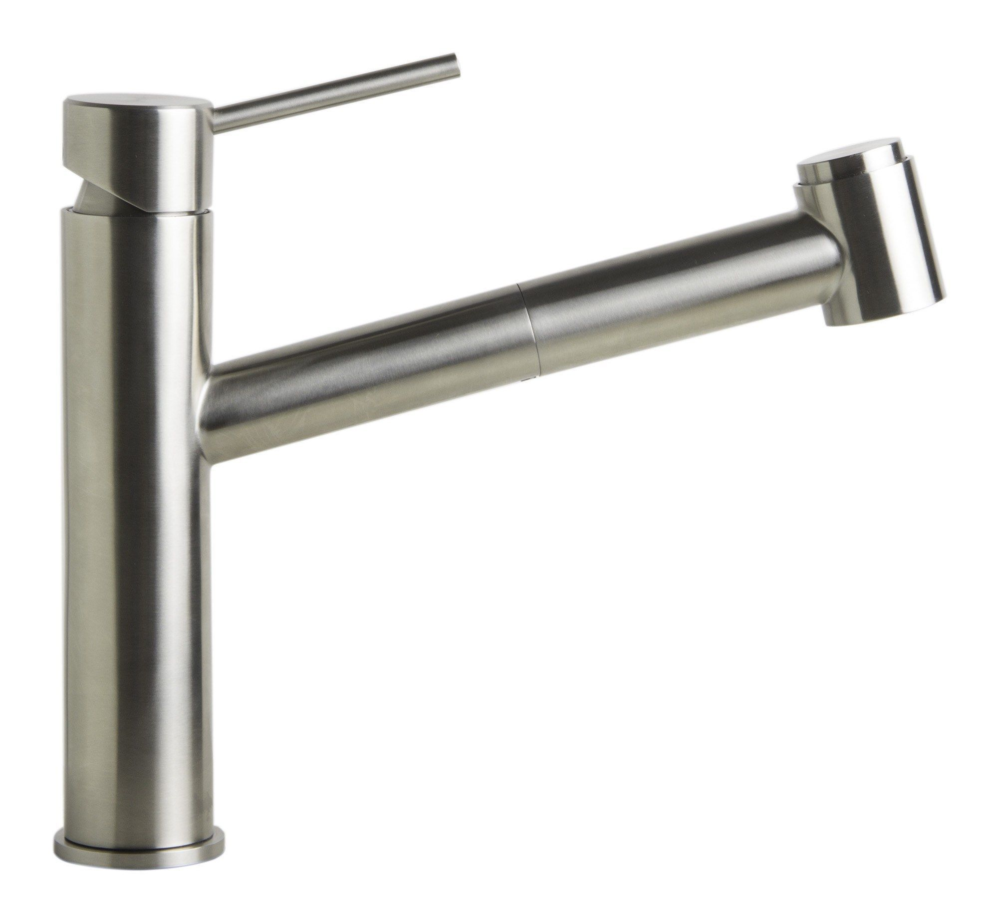 Alfi Brand Ab2203 Bss Brushed Stainless Steel Kitchen Faucet W Pull