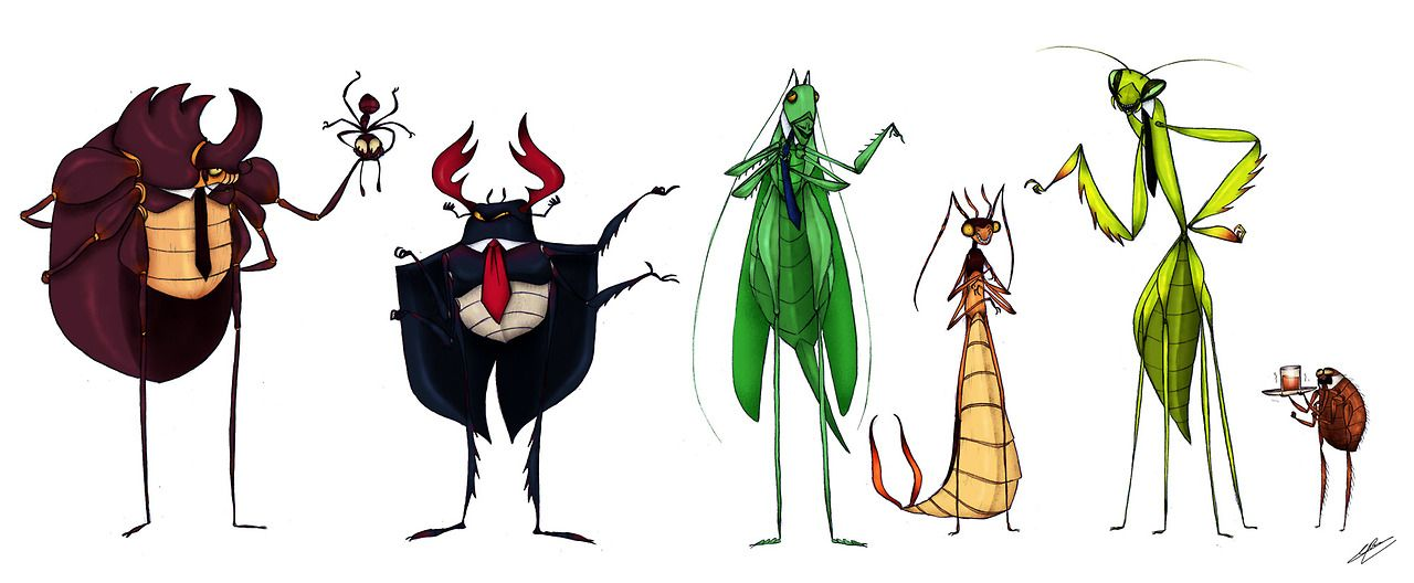 картинка комара и жука она вступилась