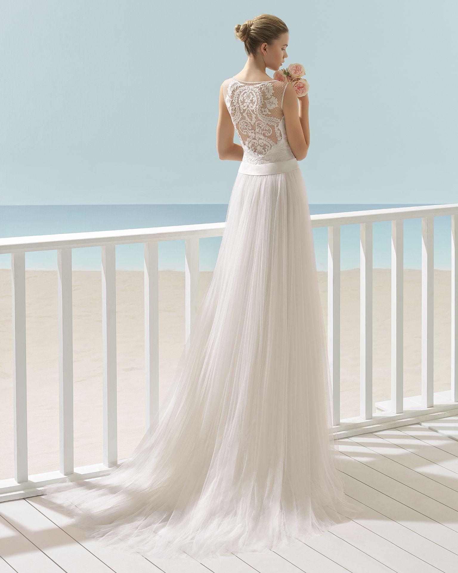 XENON vestido de novia Aire Barcelona Beach Wedding 2017 | Novia ...