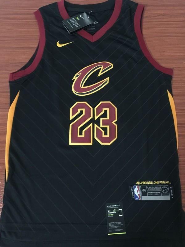 Men CAVS 23 Lebron James Jersey Black Cleveland Cavaliers Jersey Fanatics eec2e81ad61