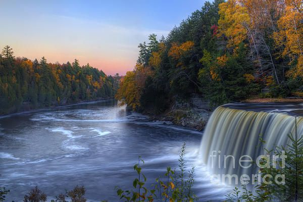 Upper Tahquamenon Falls, Paradise, Michigan Fine Art Prints from Fine Art America