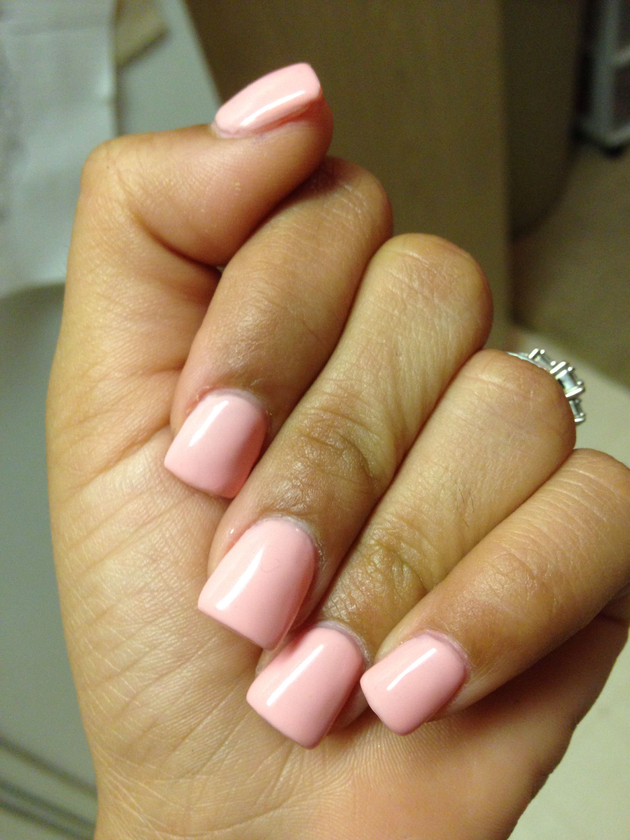 Pretty in pink. Short square nails. Luv! | Short square ...