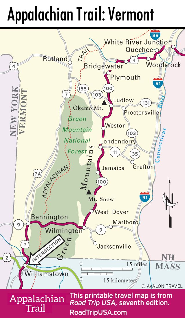Pin By Southern Sidewalks On Vermont Appalachian Trail Vermont Appalachian Trail Map