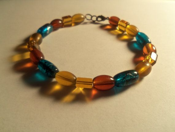Glass Beaded Bracelet made with Copper by SisterCraftings on Etsy, $4.50