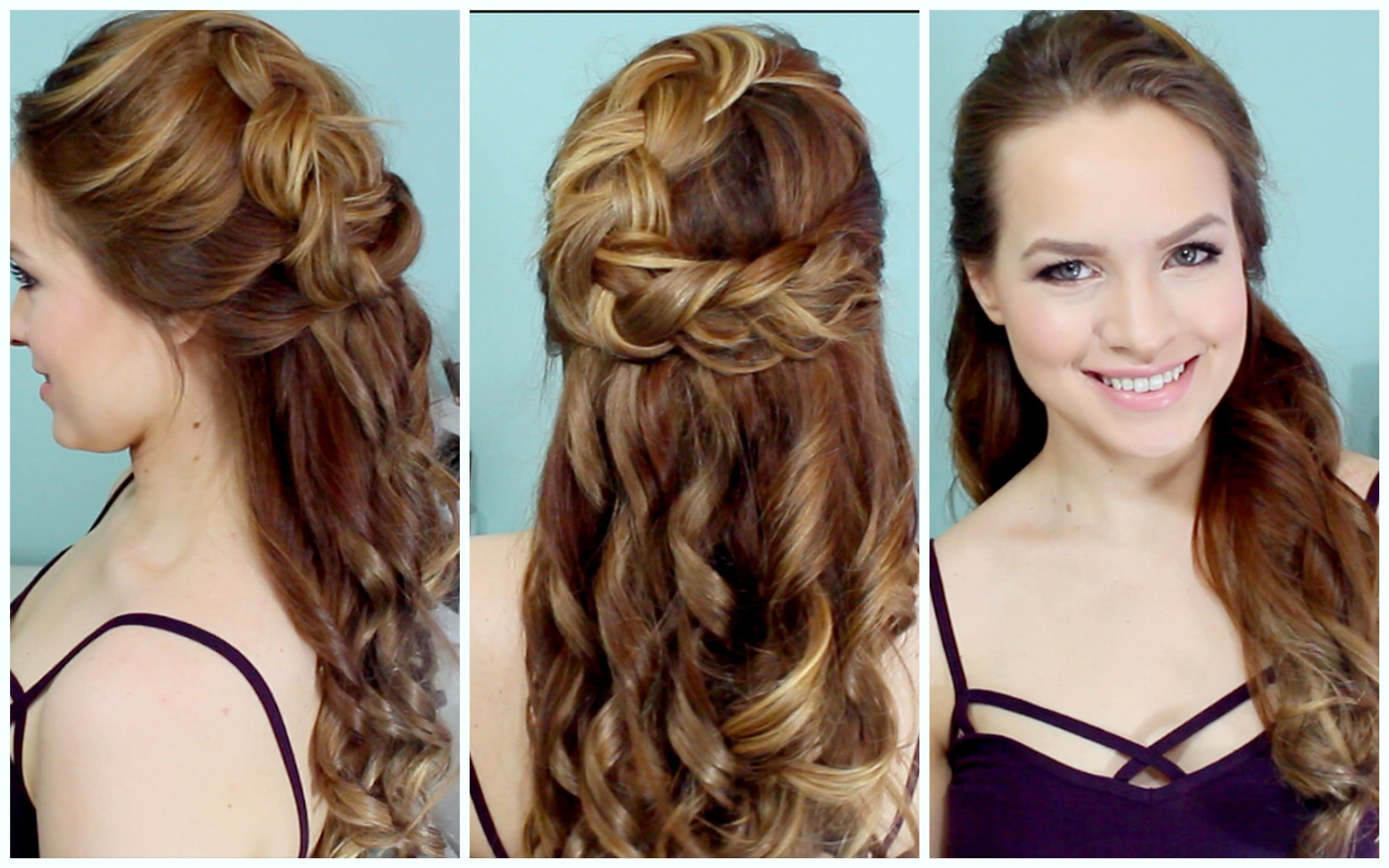 Half Up Braided Hairstyle for Prom I would love to see this with