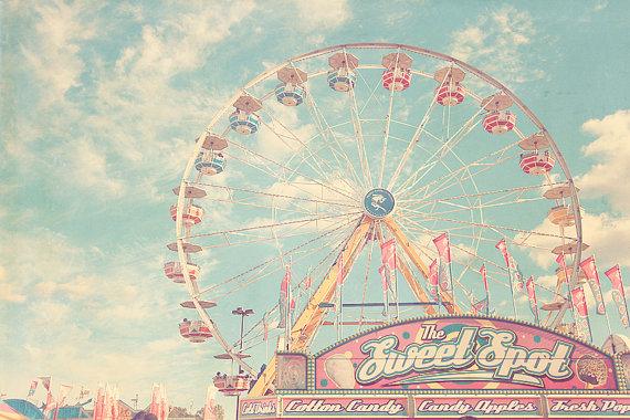 Ferris Wheel, Ferris Wheel Decor, Ferris Wheel Print, Carnival Photography, Carnival Rides, Baby Artwork, Pastel Nursery Art, Circus