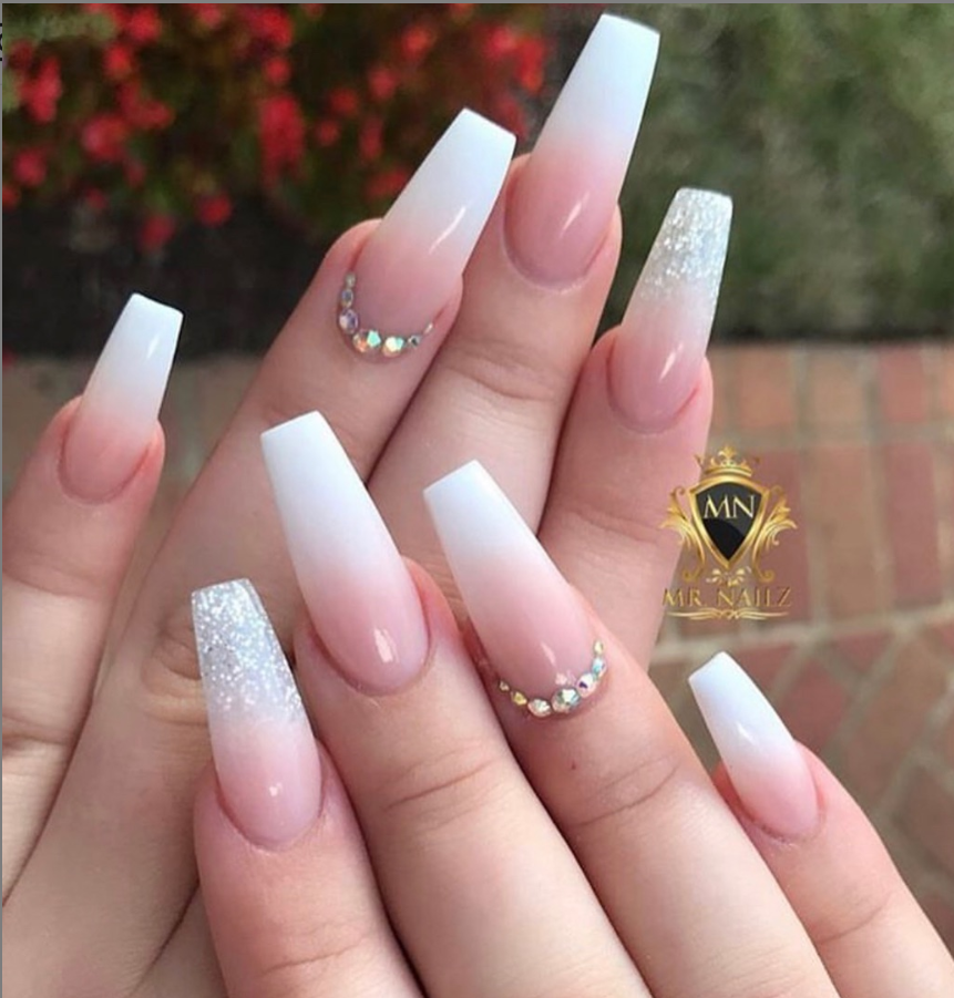 53 Chic Natural Gel Nails Design Ideas For Coffin Nails Natural Gel Nails Ombre Acrylic Nails Coffin Nails Designs