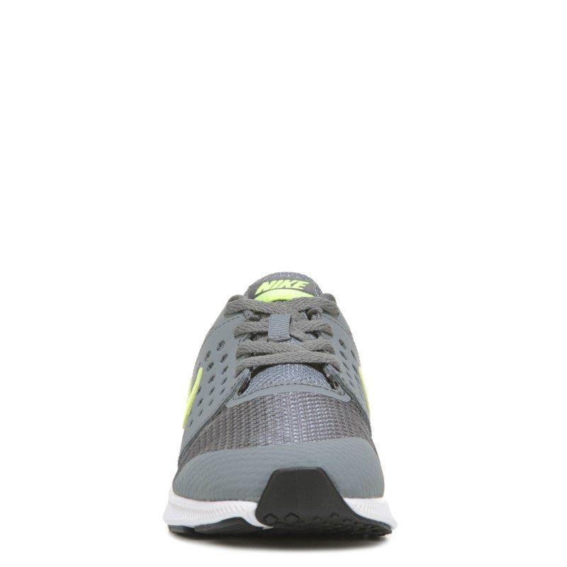 Nike Kids' Downshifter 7 Wide Running Shoe Preschool Shoes (Grey/Volt) - 13.0 W