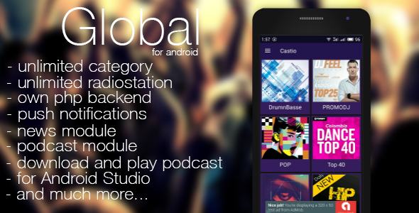 Download Free Global - radio, news, podcast + backend