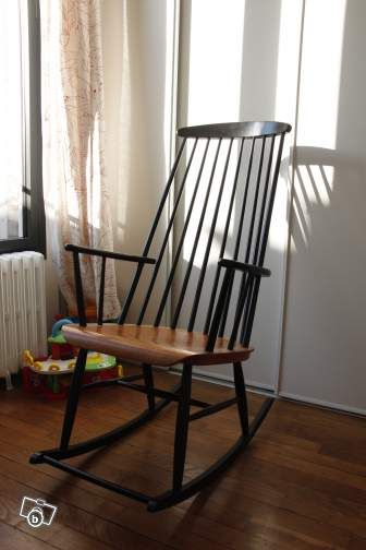 rocking chair tapiovaara designer scandinave sur le bon coin love the tapiovaara pinterest. Black Bedroom Furniture Sets. Home Design Ideas