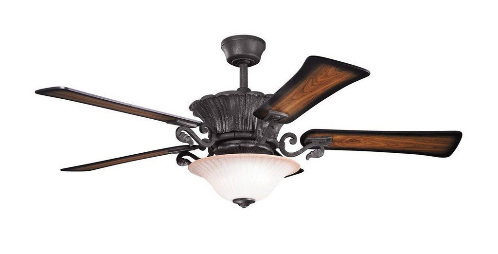 56 Ceiling Fan In Distressed Black Finish With Light Kit And Remote Height 21 5 Width 56 Bulbs 2 75 With Images Black Ceiling Fan Ceiling Fan Ceiling Fan With Light