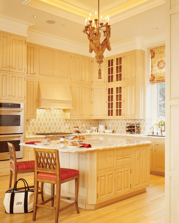 Yellow Kitchen...with Red Accents