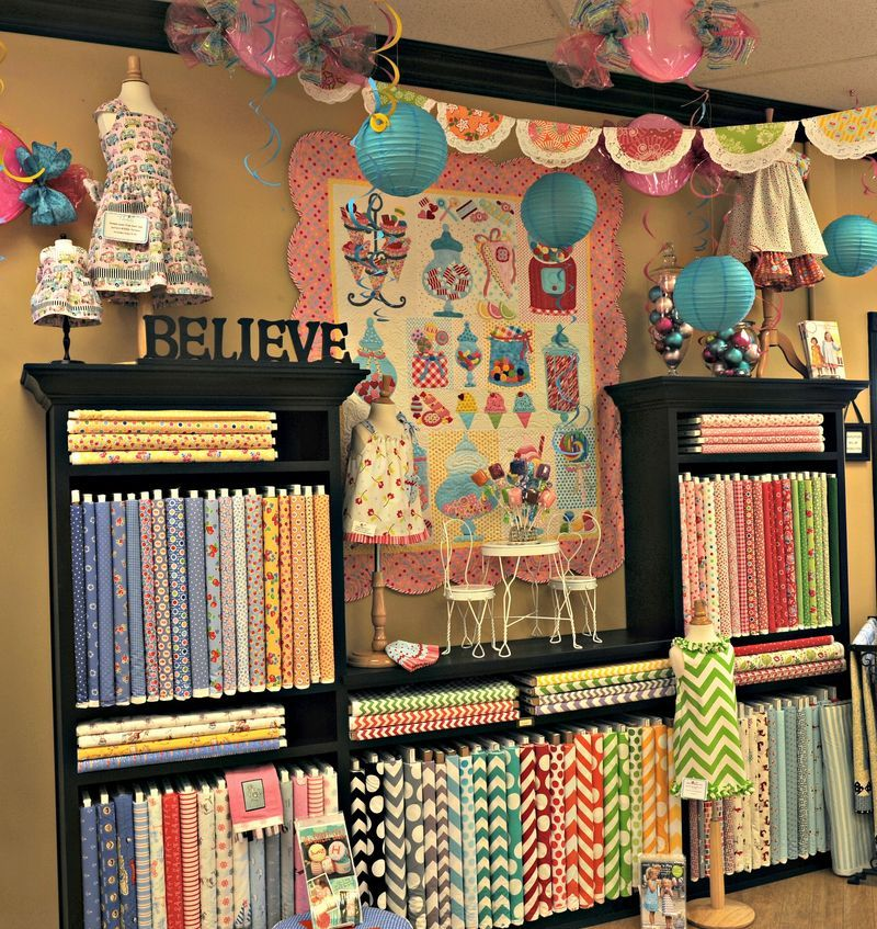 fabrics and different sewing ideas sew fun fabric display sewing stores sewing studio. Black Bedroom Furniture Sets. Home Design Ideas