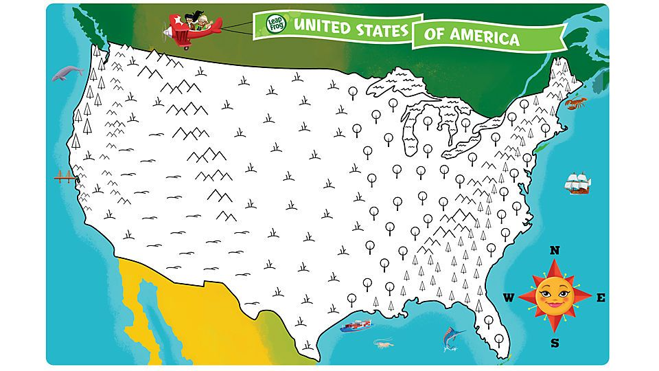 United States Map Coloring Page By Coloring The Map According To - Kids printable us map