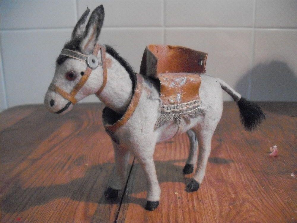Sehr alter, schöner Kopfnicker Esel, filzbezogen | Esel, Alter und ...