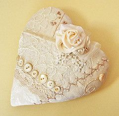 Lovely Ivory Lace Heart