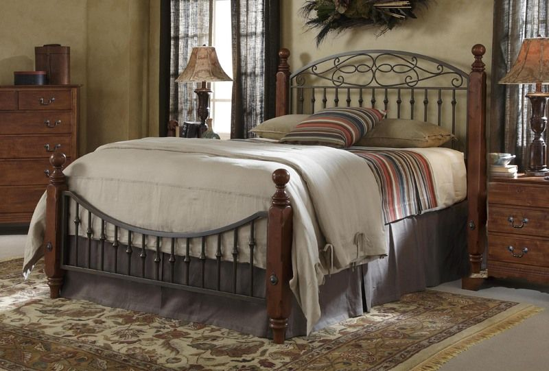 Marvelous Iron And Wood Bedroom Furniture With Nifty Tuscan Style Bed With .
