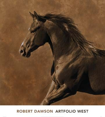 large equine artwork | Horse Westward Gallop Thoroughbred Sepia Tone Photo Art Print