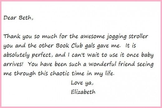 Tips To Writing Thank You Note For Baby Shower Sample Thank You