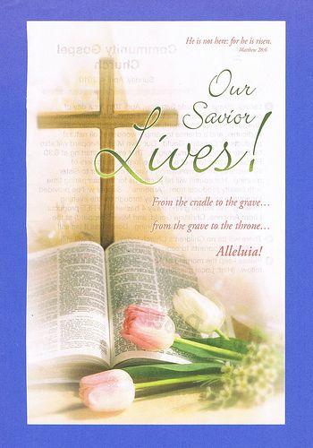 easter sunday 2010  church bulletin
