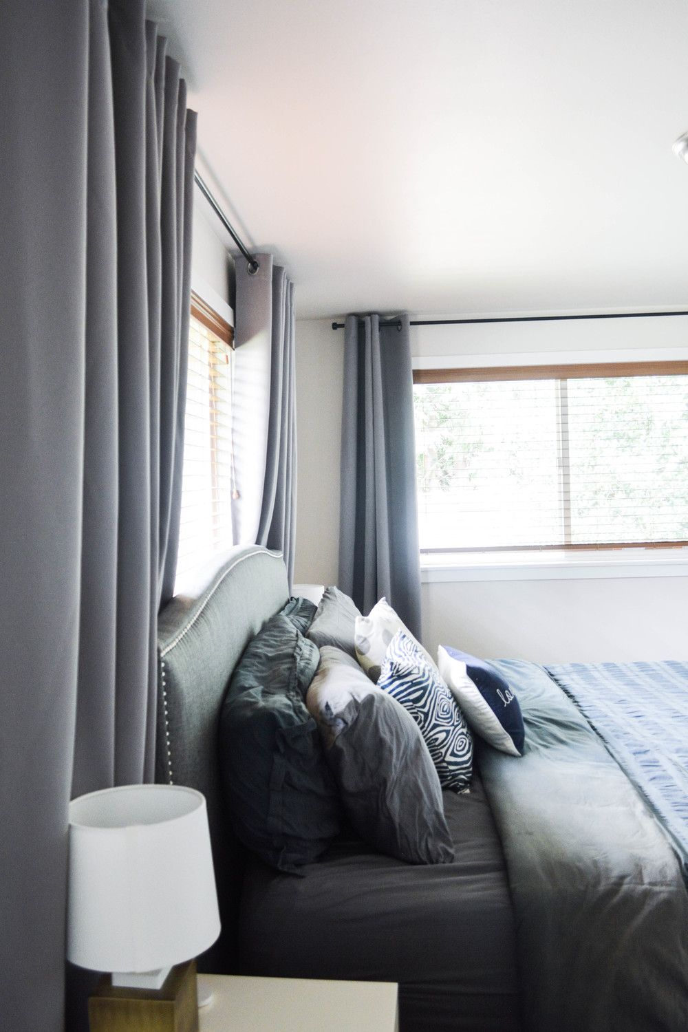 Bed and window placement  moving a window with curtains  small master bedroom bedroom small