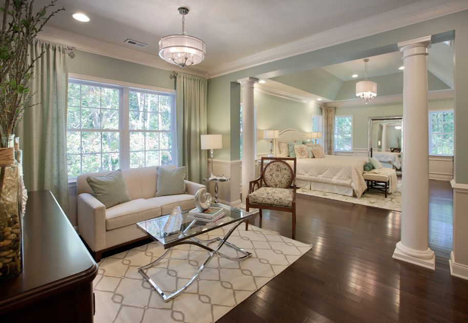 Toll Brothers Hampton Model Master Bedroom Wrong Colors