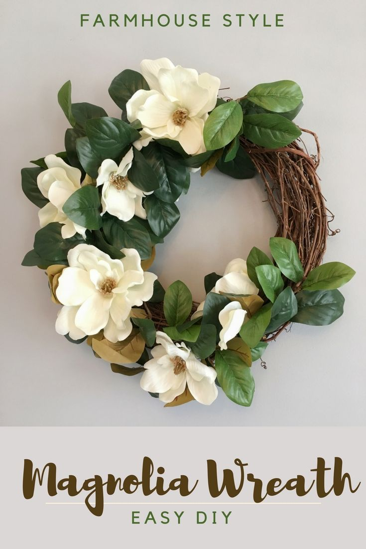 Photo of How to make a magnolia wreath – with beautiful flowers! | The How To Mom