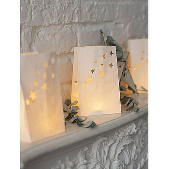 White Star Candle Lanterns