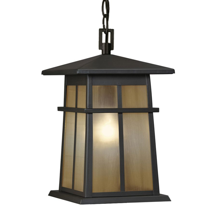Porch Light Pendant: Shop Portfolio Amberset 14.25-in Specialty Bronze Outdoor