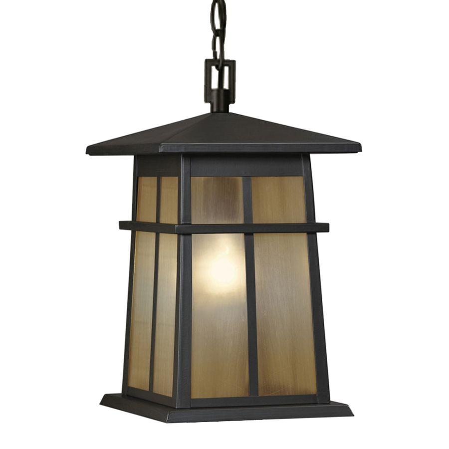 Lowes Hanging Light Fixtures: Shop Portfolio Amberset 14.25-in Specialty Bronze Outdoor