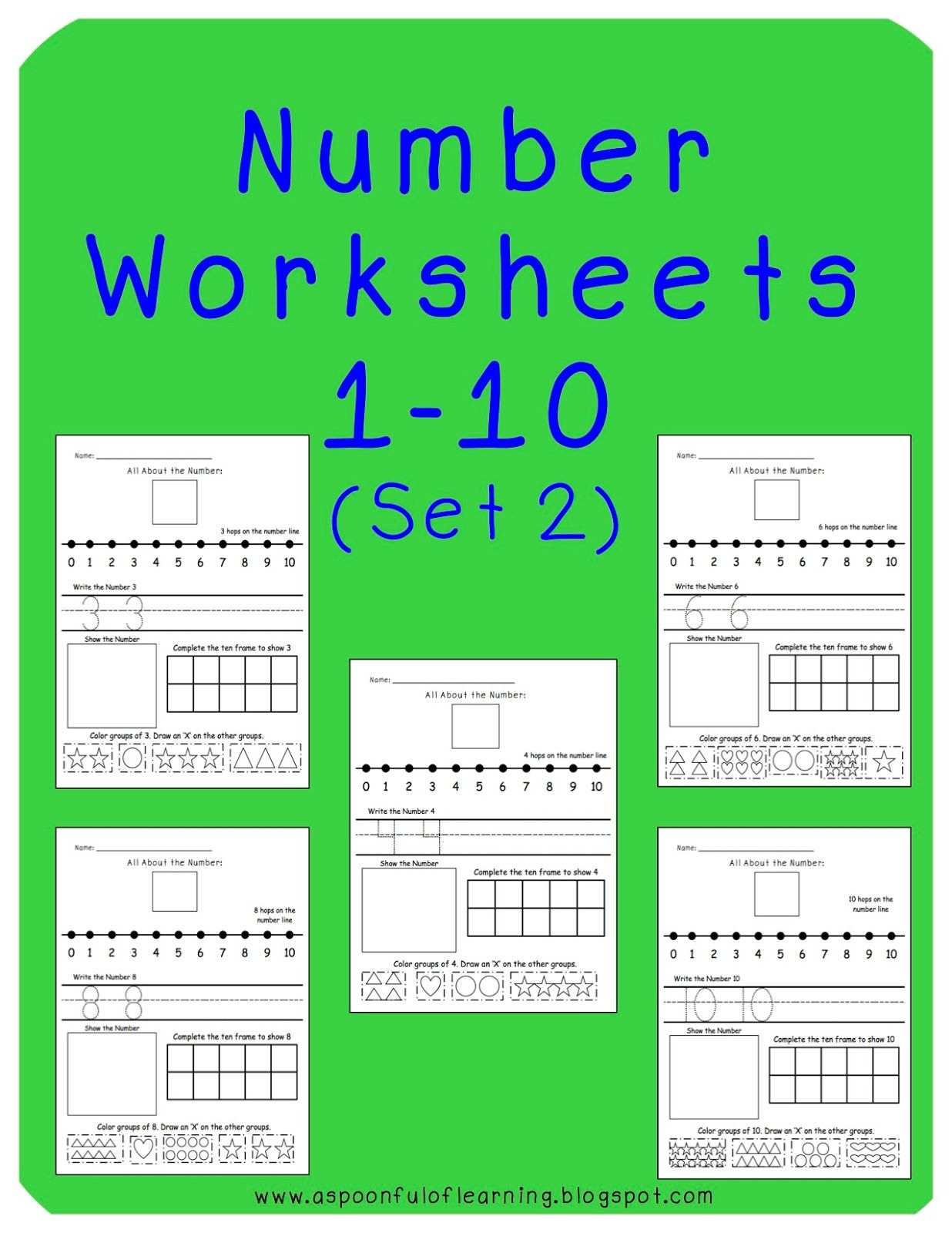 All About Numbers 1 10 Students Show A Variety Of Ways To