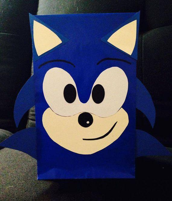 10 Sonic Hedgehog Goodie Bags Hedgehog Birthday Sonic Birthday Sonic Birthday Parties