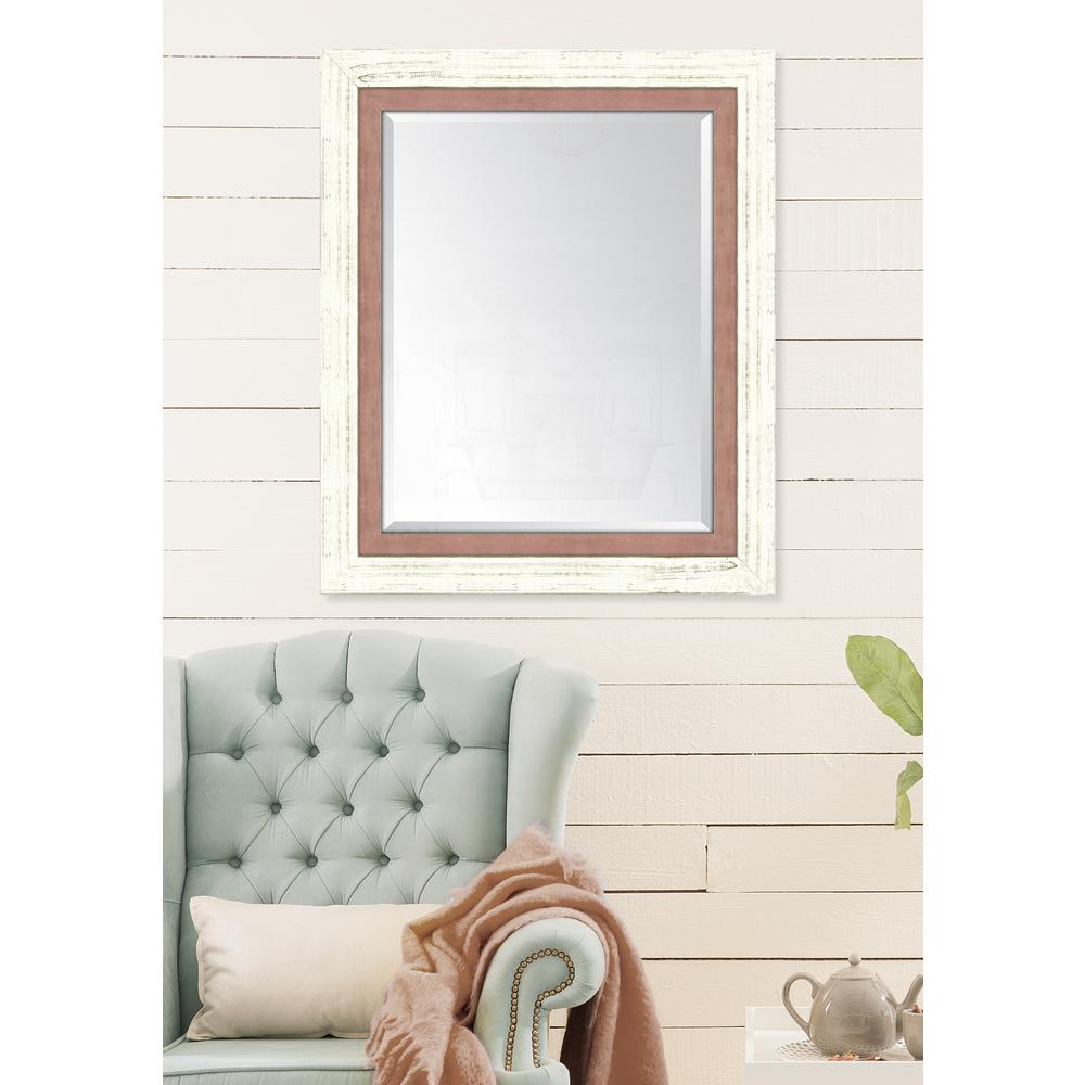 Melissa Van Hise 30 In X 36 In Framed French White Large And Autumn Spice Mirror Products Yellow Mirrors White Mirror Mirror